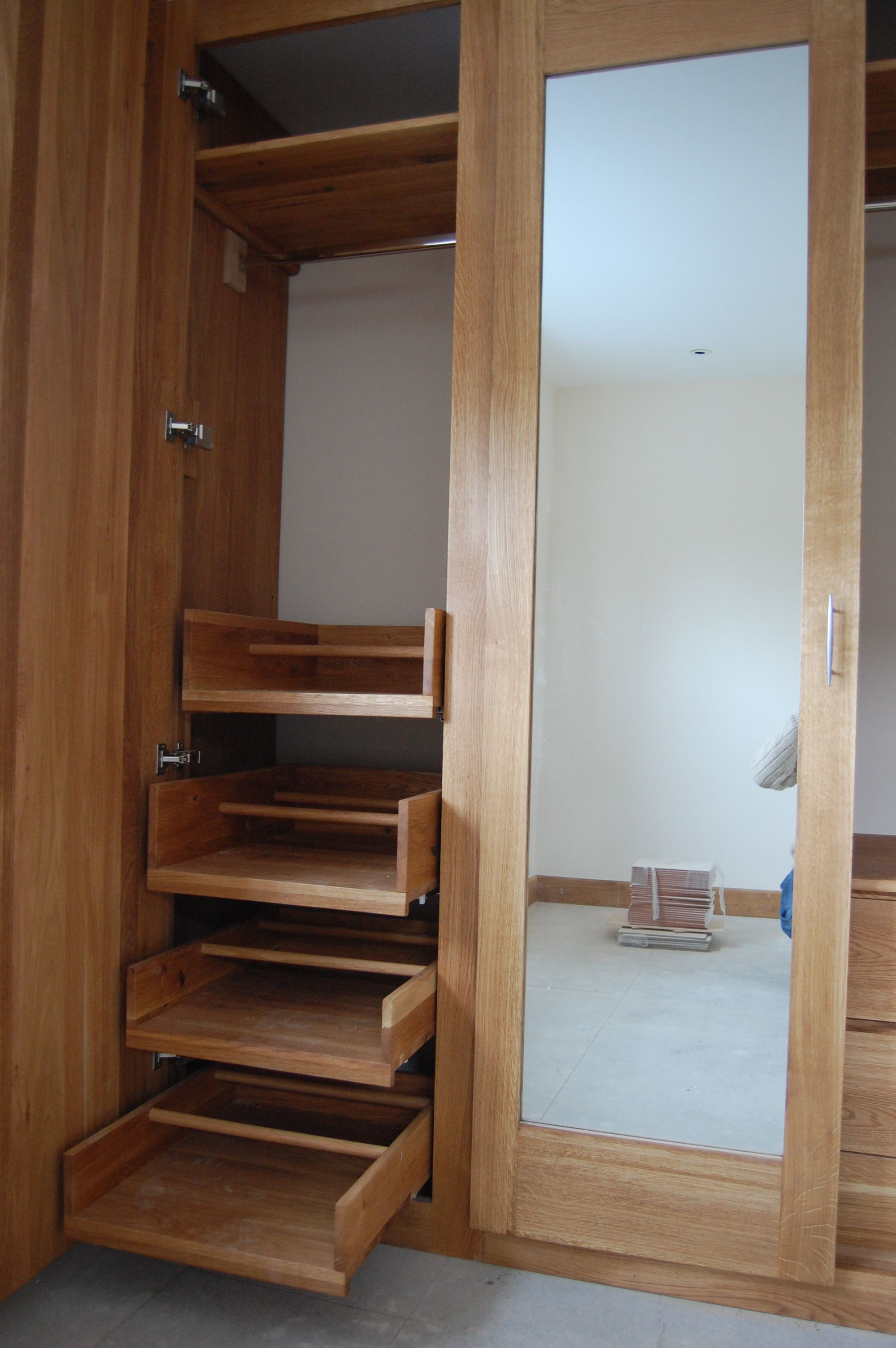 sliding drawers inside wardrobe