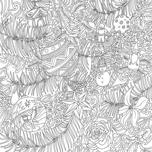 Image result for winter magic coloring book pages | color book ...