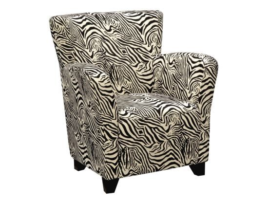 Lindsay Zebra Accent Chair Value City Furniture Value