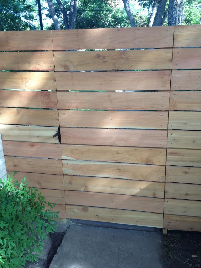 Horizontal Fence With Deck Boards Google Search Backyard