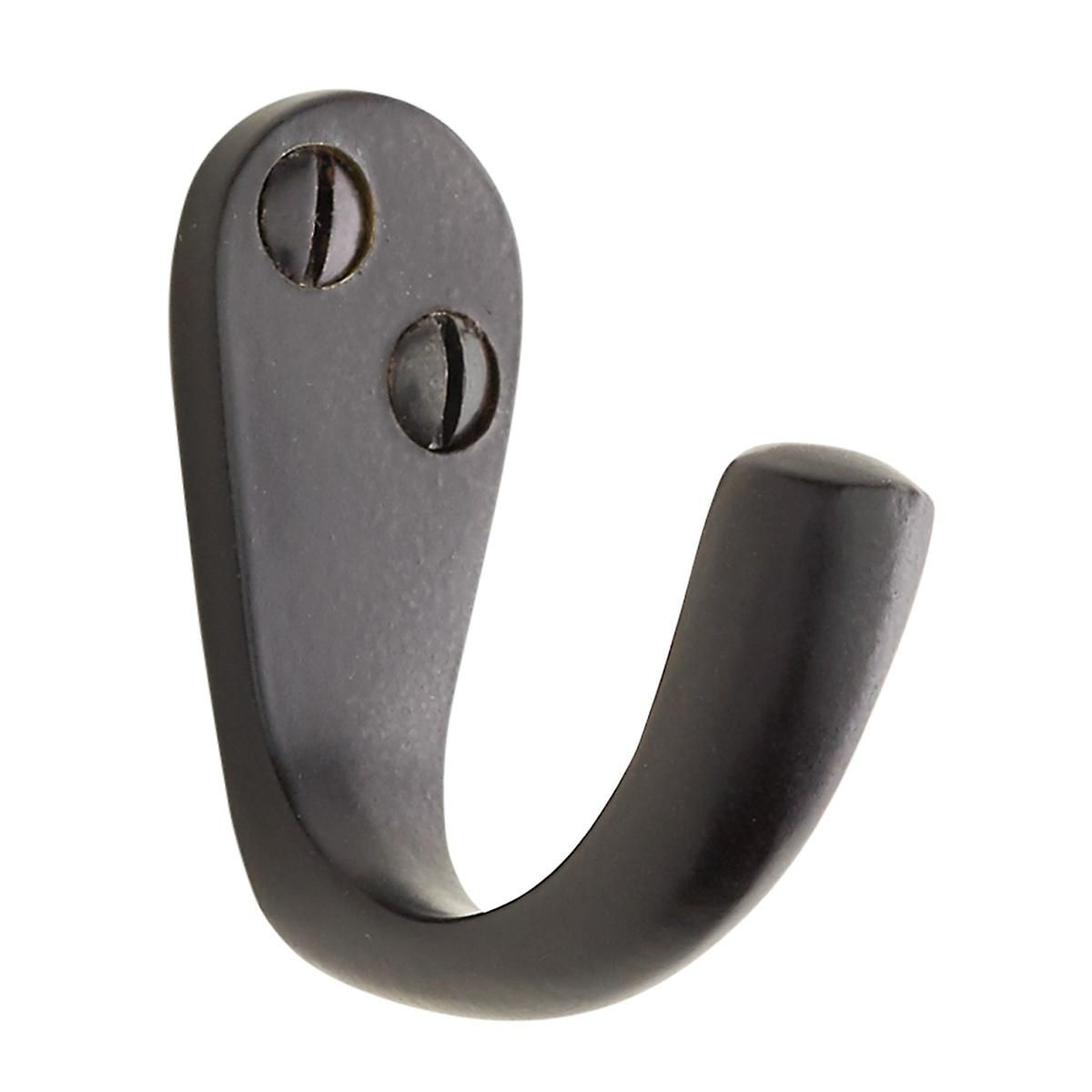 Small Single Black Wall Hook The Container Store Black Wall