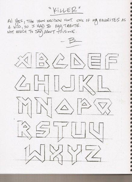 Caligrafía, abecedarios Para tatuajes, Abecedario y Tatuajes - Letras Para Tatuajes