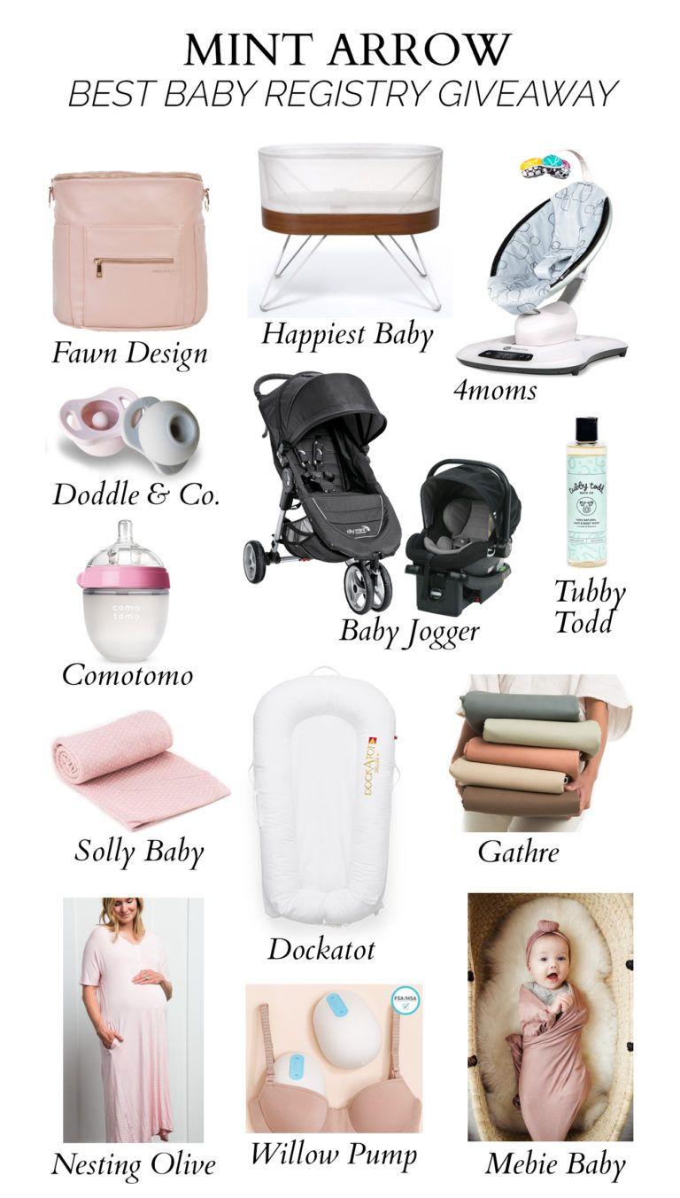 Updated Best Baby Registry List Ever 3 700 Giveaway Mint Arrow