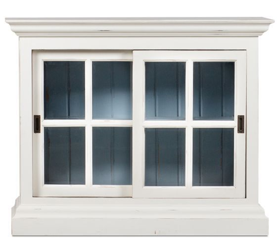 The Heath Cabinet Features Distinctive Window Pane Style Sliding Doors And  Beadboard Detailing, Lending