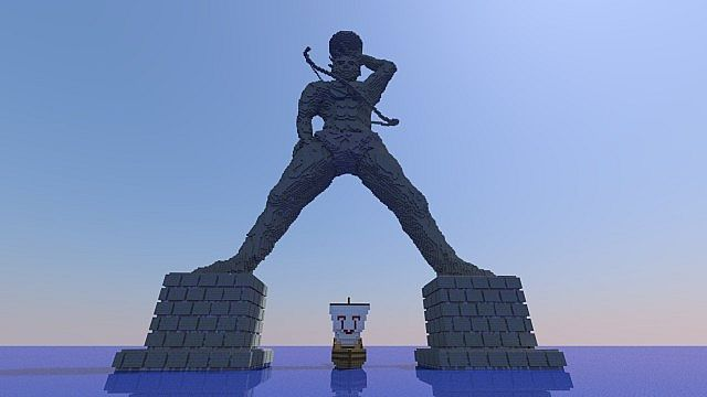 Colossus Of Rhodes Minecraft Map Minecraft Projects Minecraft