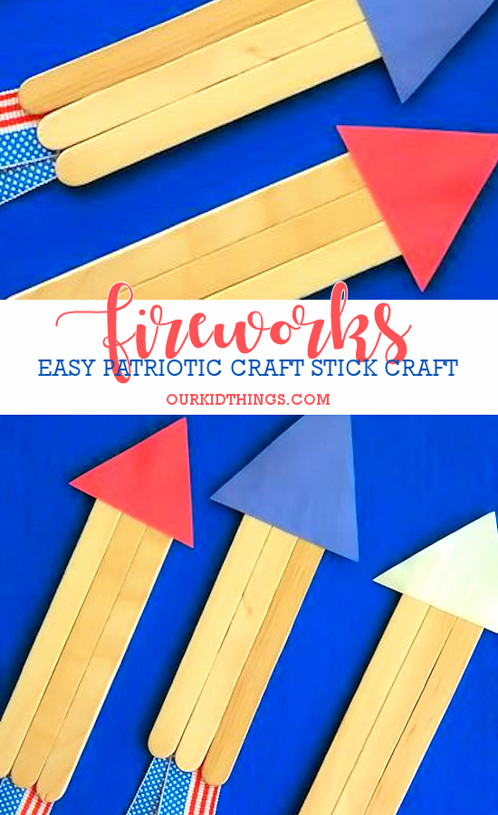 July 4th Fireworks Craft | Our Kid Things