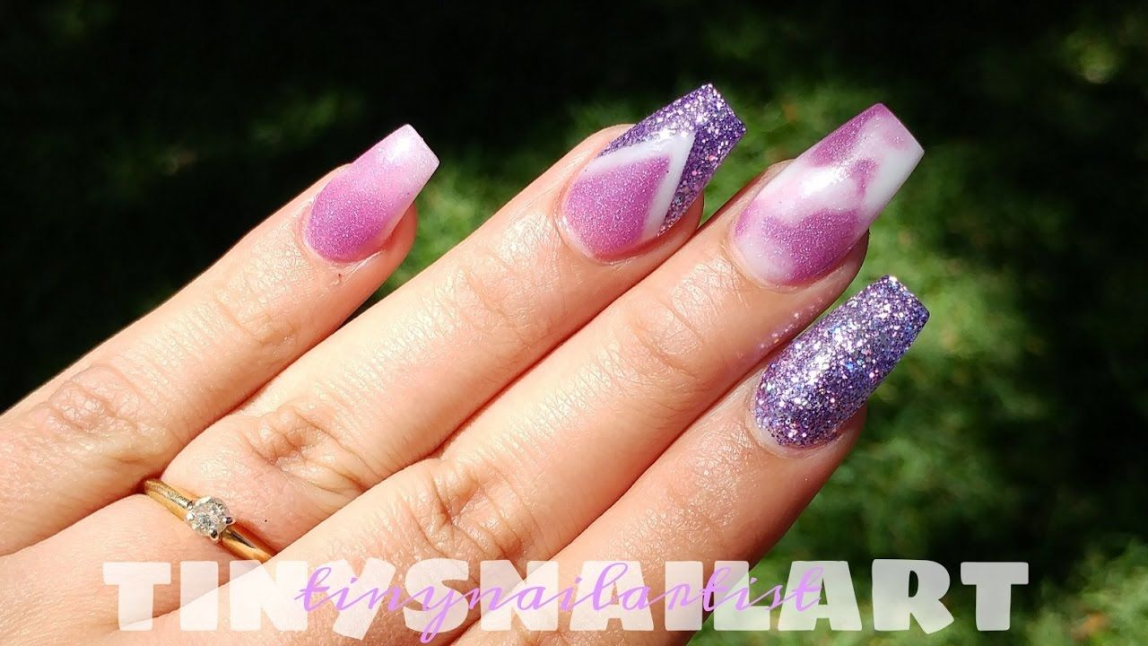 Notpolish Purple Themed Coffin Nails Con Imagenes
