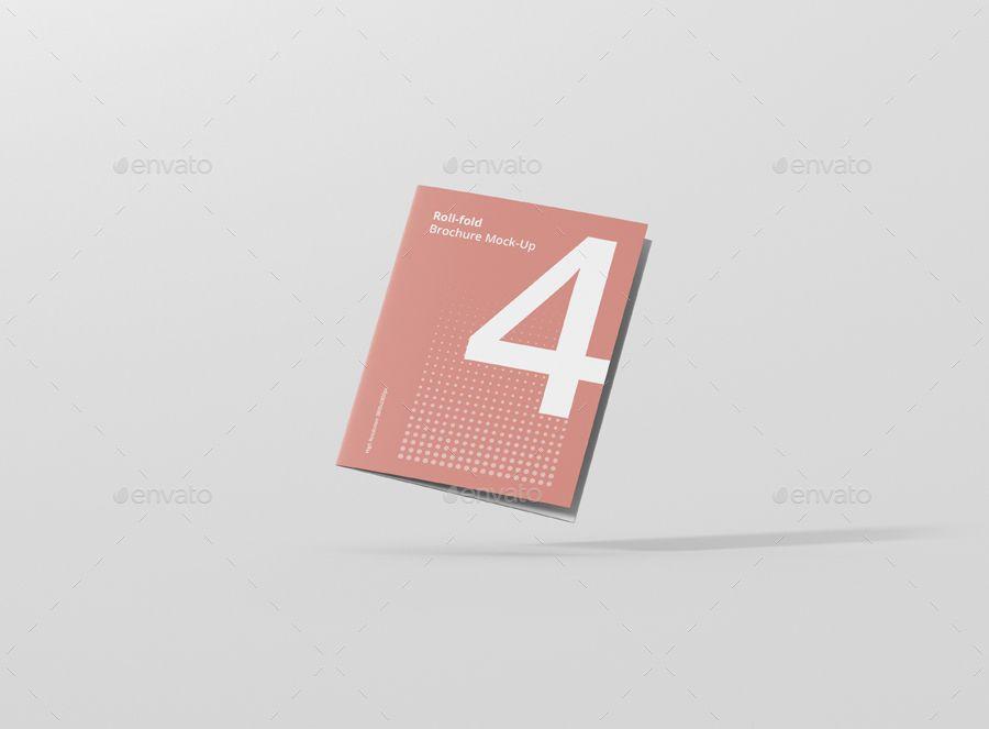 Roll Fold Brochure Mockup 8 5x11 Inch Us Letter Lettering