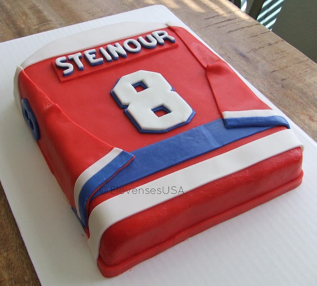 Hockey Jersey birthday cake Vanilla cake covered in fondant