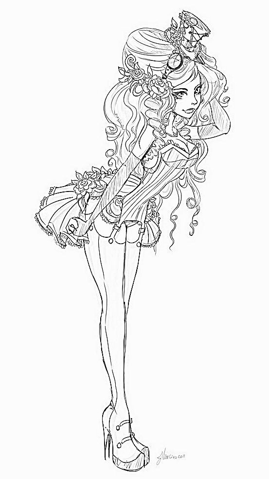 pin up girl coloring pages - sexy vampire pin up coloring coloring pages