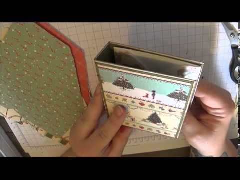 Christmas Envelope Mini Album Tutorial. - YouTube