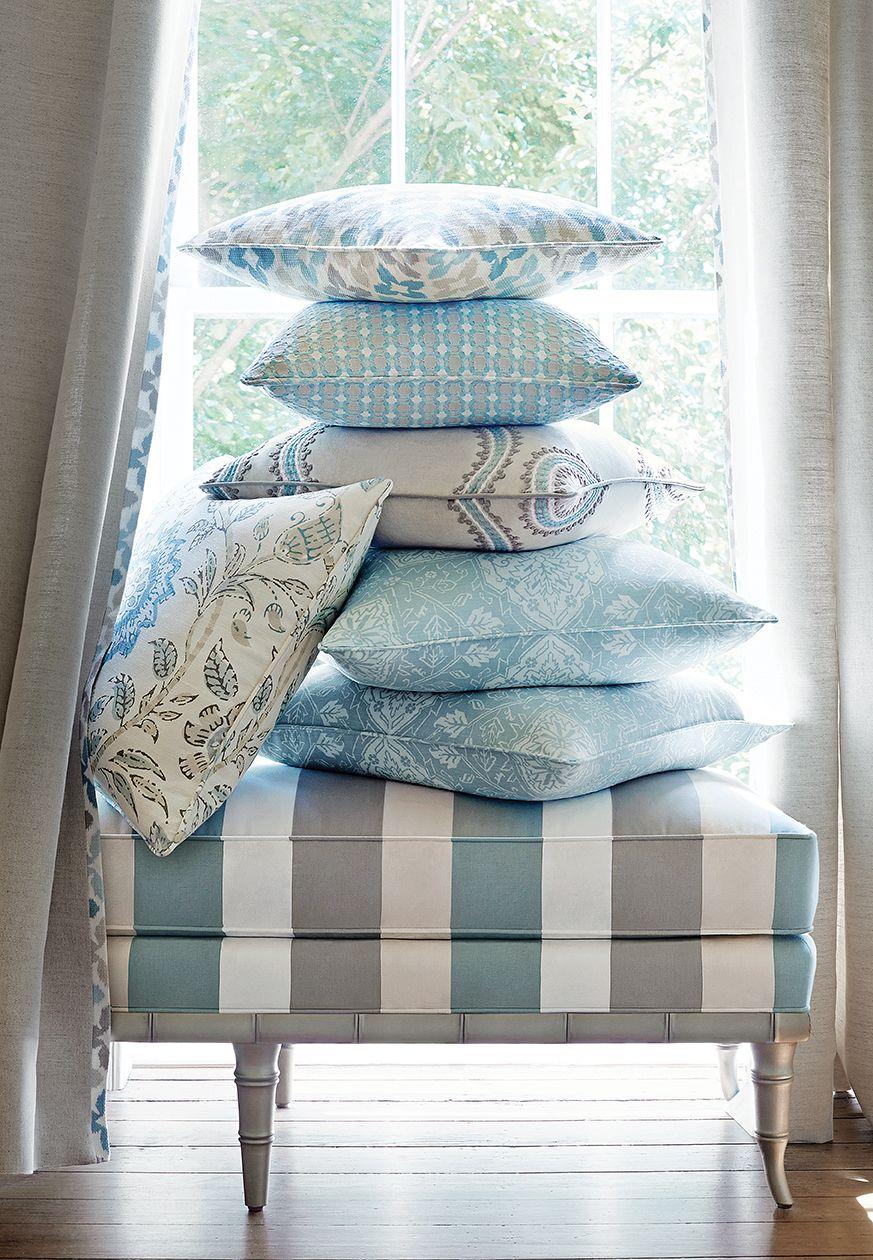 Blue and terracota striped theme caravan pinterest woven