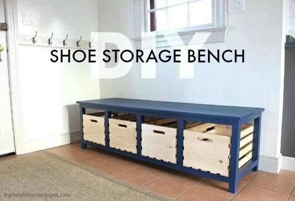 Hemnes Shoe Cabinet Nz Diy Storage Bench Bench With Shoe Storage Shoe Storage Bench Diy