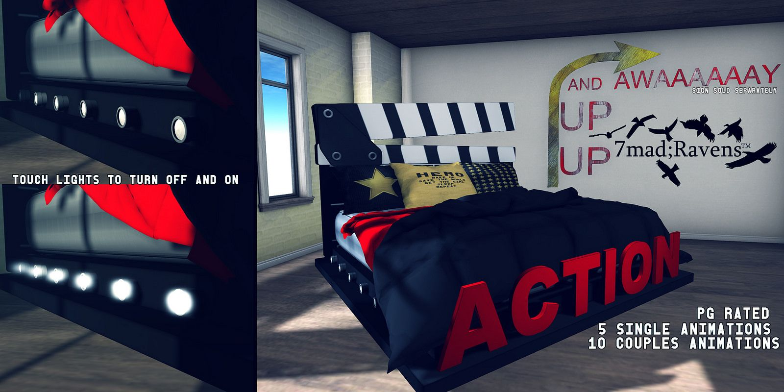 7mad;Ravens Action Hero Bed- PG Rated | Flickr - Photo Sharing!
