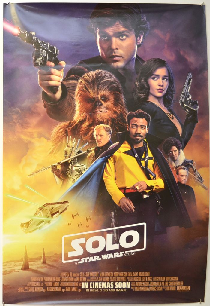 Solo A Star Wars Story Original Cinema Movie Poster