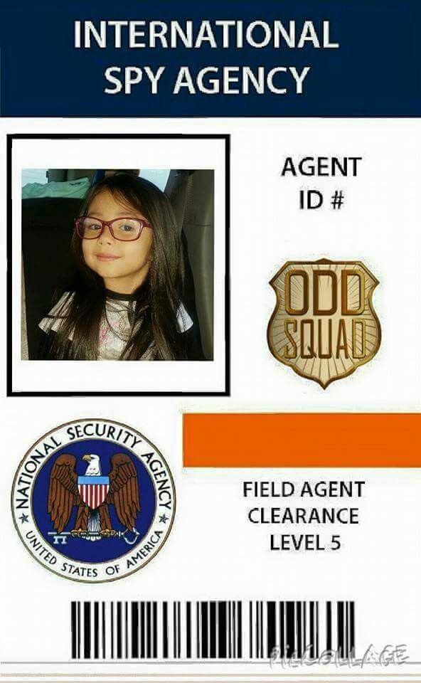 graphic relating to Odd Squad Badge Printable named Representative Identity peculiar squad birthday celebration inside 2019 Templates