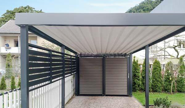 geschlossene dachunterkonstruktion am siebau carport garage