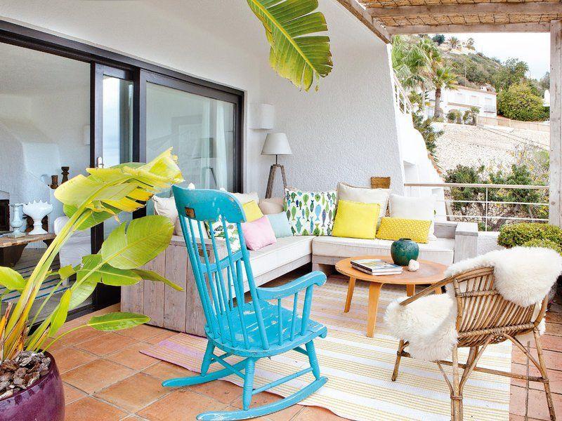 terrazas y balcones decoración plantas y flores decoración exterior - decoracion de terrazas con plantas