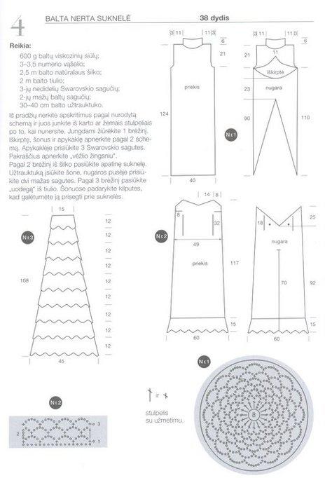 Patrones Crochet: Vestido de Novia con Glamour | vestidos ...
