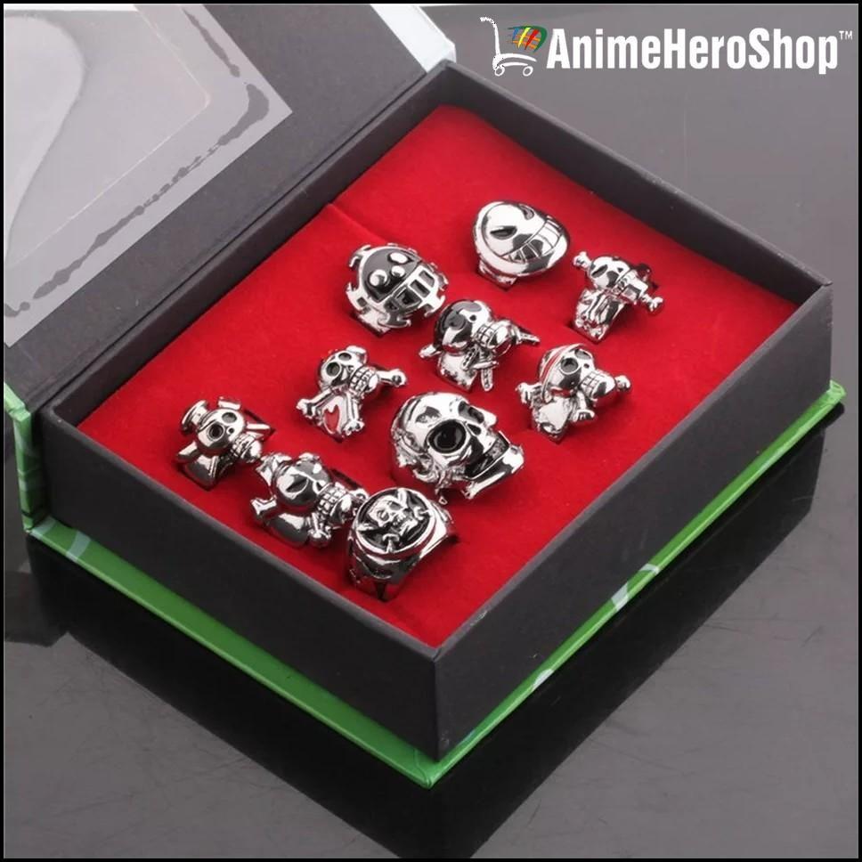 BOX Otaku Japanese Anime One Piece Logo Ring Retro Alloy Cosplay Jewelry Gift