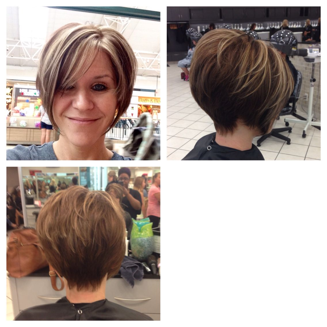 Short Pixie with long bangs! Chocolate brown with caramel