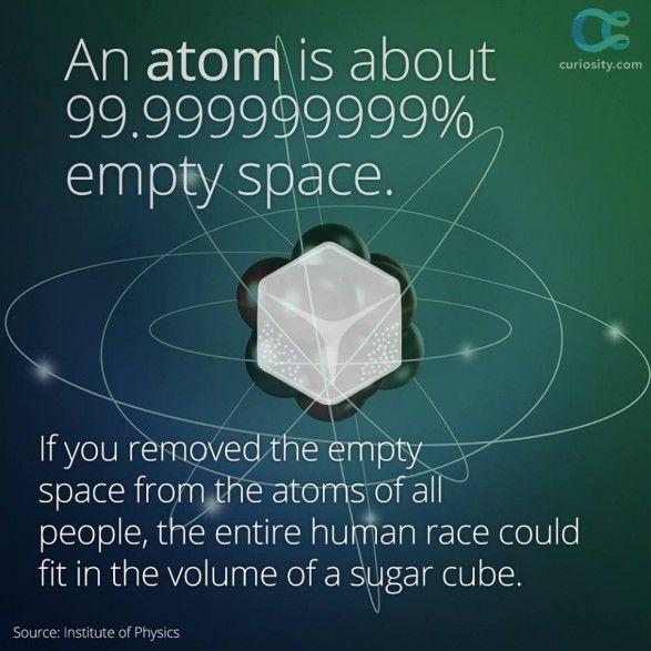 99,9% atomin massasta ytimessä!