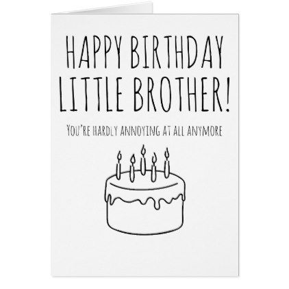 Funny Birthday Card Humorous Card For Brother Birthday Cards
