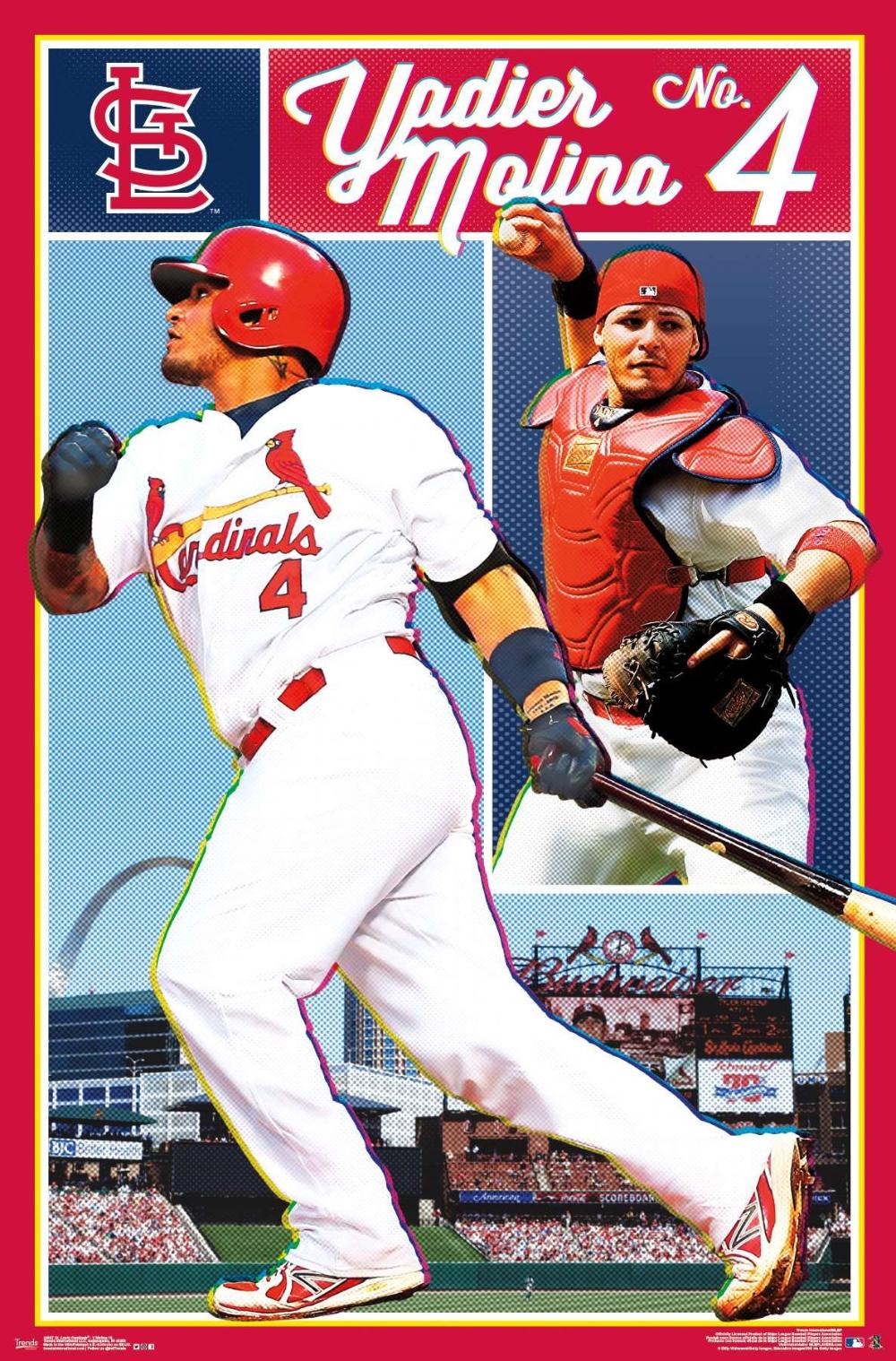 Mlb St Louis Cardinals Yadier Molina In 2020 St Louis Cardinals Baseball Baseball Posters Yadier Molina