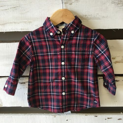 Janie & Jack Plaid Button Up Shirt
