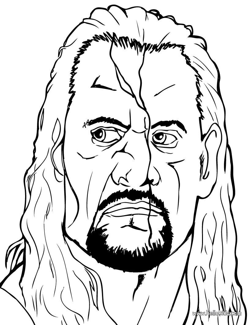 Undertaker | Coloring Sheets Celebs | Pinterest