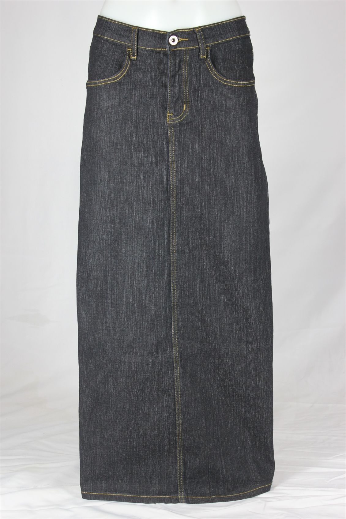 Flowing Grace Modest Skirt | Long Denim Skirt Sizes 6-18 | Long ...