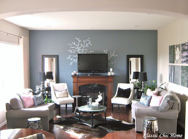 Full Length Mirrors On Either Side Of The Tv Fireplace