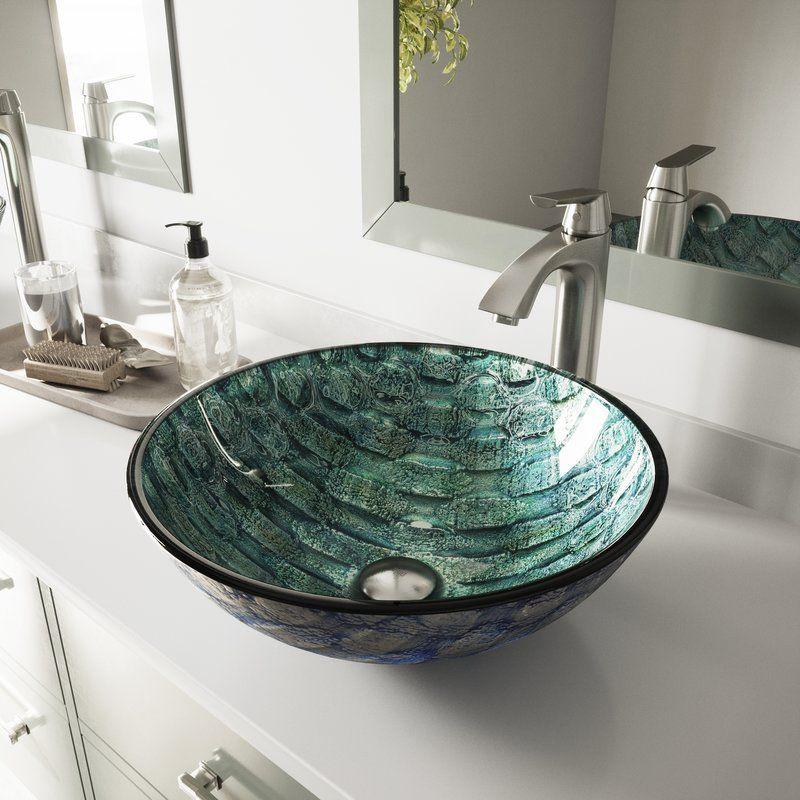 Glass Circular Vessel Bathroom Sink in 2018 Bathroom remodel