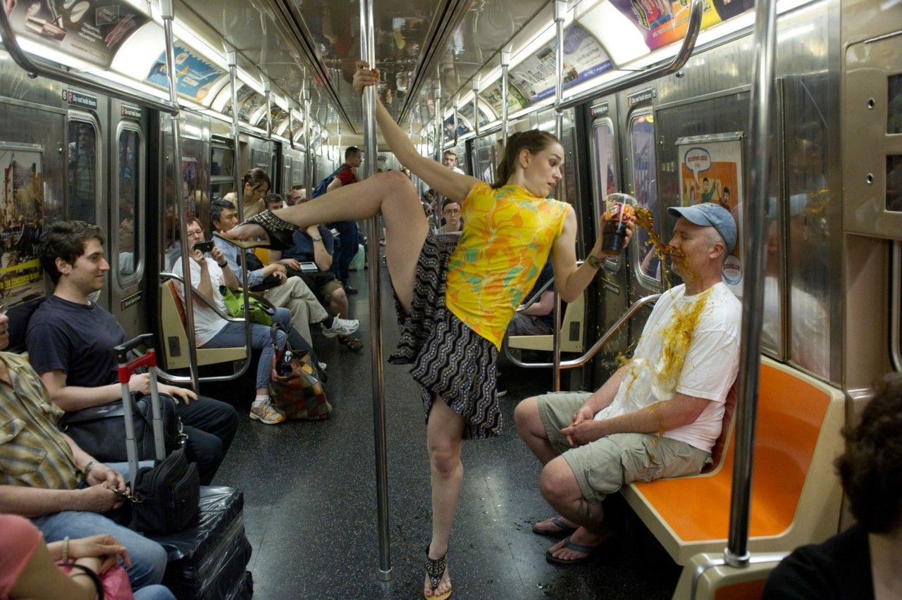 """""""Dancers Among Us"""" is photographed by Jordan Matter, featuring top professional dancers in everyday situations around New York City."""