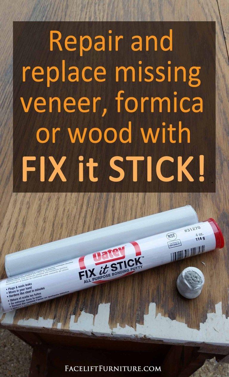 How To Repair Replace Missing Veneer Formica Or Wood On