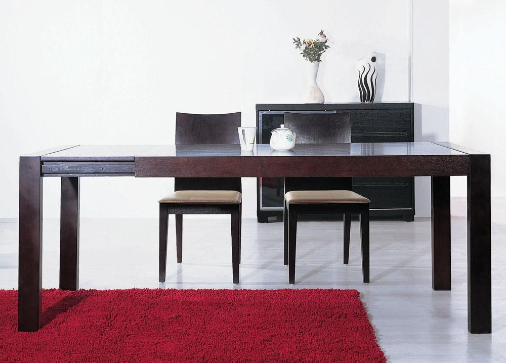 Extendable Dining Table In Espresso By Beverly Hills Furniture