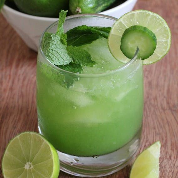 The best alcohol free cocktails that you can make at home | Cucumber drink. Healthy drinks. Summer drinks