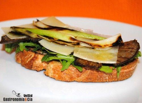 Sándwich De Setas Queso Roncal Y Aceite De Trufa Receta Aceite De Trufa Comida étnica Sandwiches
