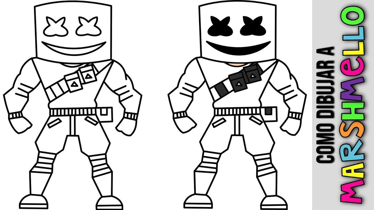 Marshmello Para Colorear Fortnite