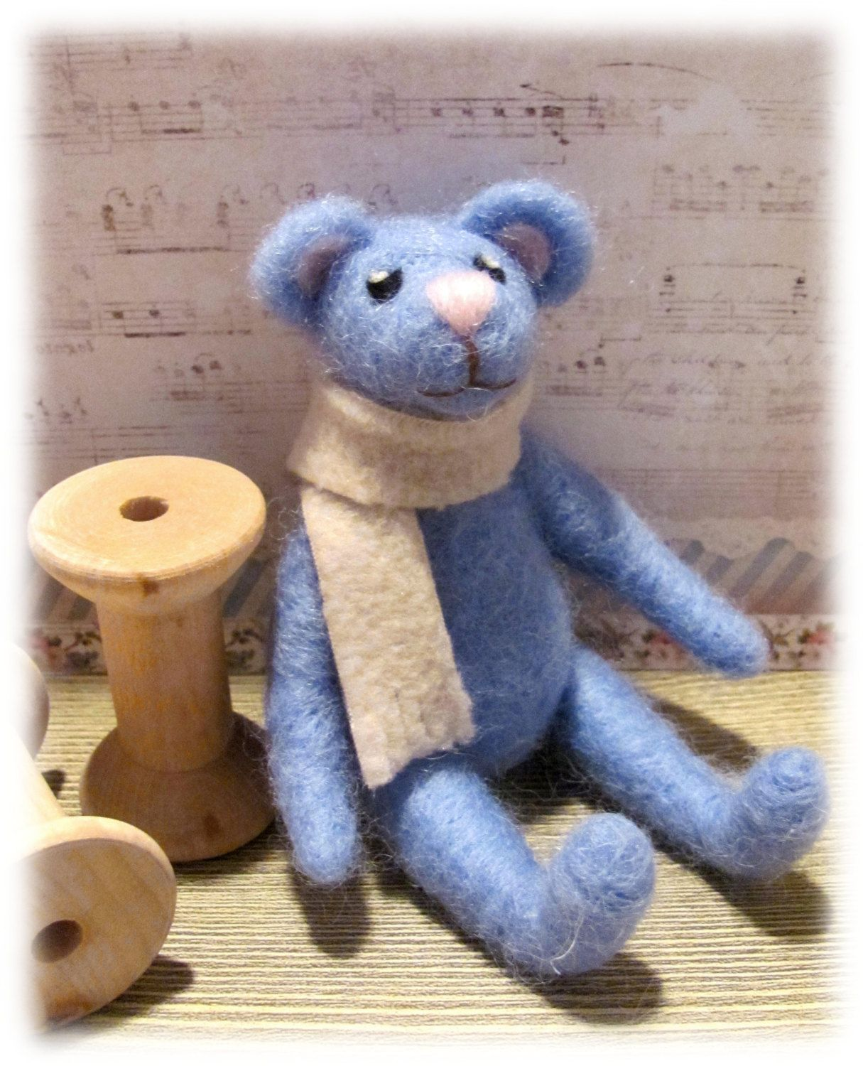 Teddy bear toys images  Miniature Teddy Bear Needle Felt Small Teddy collectors OOAK by