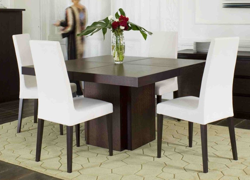 Square dining table for 4 dining room: romantic square ...