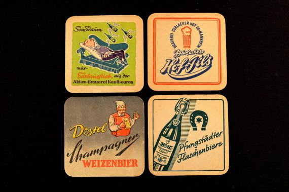 German Paper Beer Drink Coasters Mats Mixed Lot Germany