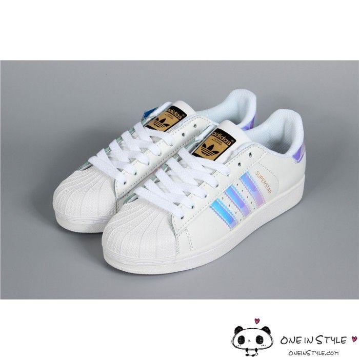 magasin d'usine e98c8 7e054 Adidas Superstar Classic White Hologram Iridescent AQ6278 ...