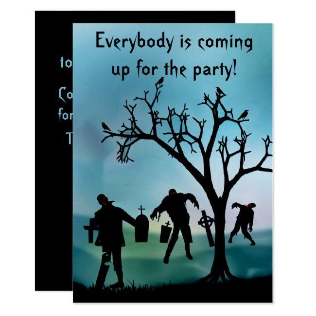 Zombie Apocalypse or Halloween Party Invitation | Zazzle.com #zombieapocalypseparty