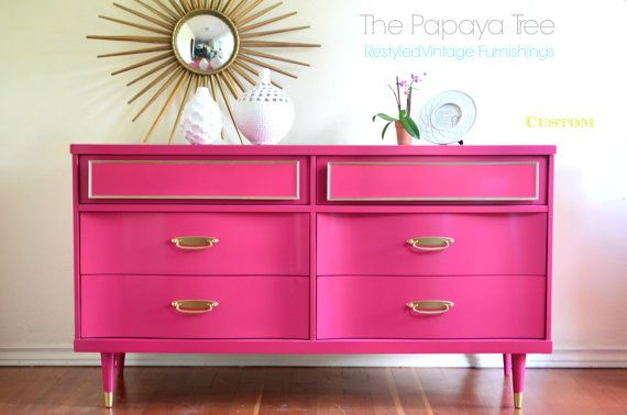 Custom made to order vintage dresser in Lacquer by ThePapayaTree, $895.00