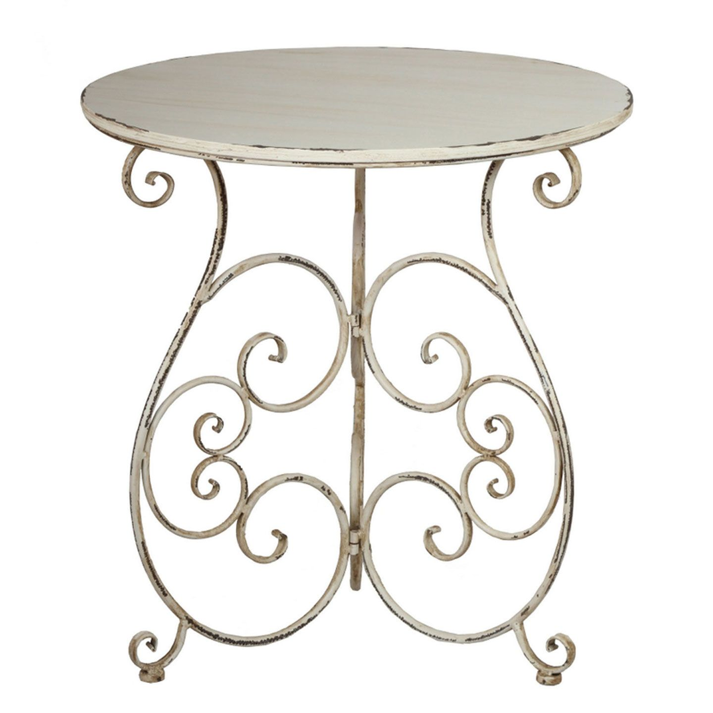 Vintage White Bistro Table