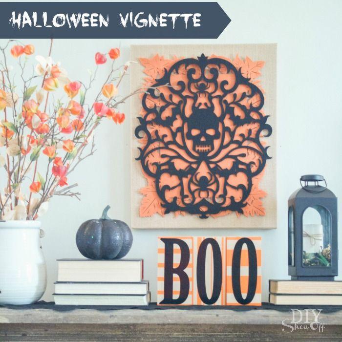 DIY Halloween Vignette DIY Halloween, Holidays and Holidays halloween - halloween diy decoration