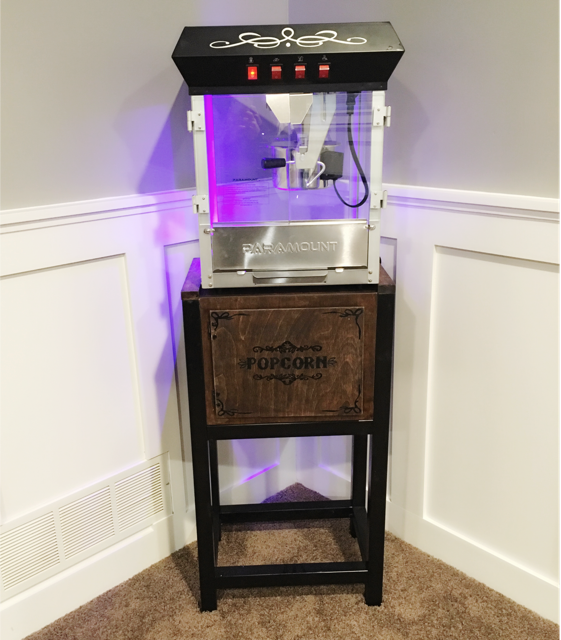 Home Theater Design Ideas Diy: Popcorn Stand, Movie
