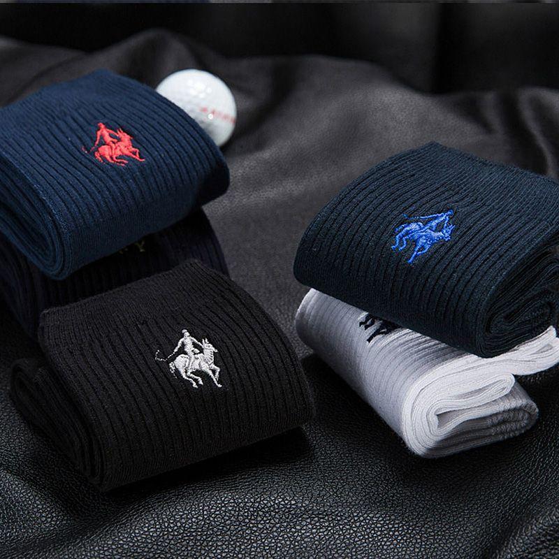 6da1c50f61c8 PIER POLO Brand Men Socks Meias Male Winter Warm Socks Cotton Embroidery  High Quality Sheer Mens Dress Socks Calcetines Hombre