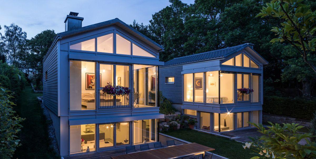 Moderne Holzhäuser moderne holzhäuser mit glasfassade fertighaus neubrander